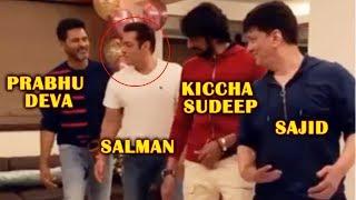 Salman Khan Dancing With Prabhu Deva Kiccha Sudeep And Sajid Nadiadwala | Must Watch Video