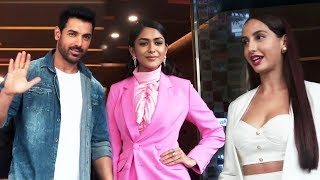 John Abraham Mrunal And Nora GRAND ENTRY At Batla House Trailer Launch