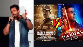 Batla House Vs Mission Mangal | John Abraham HILARIOUS Reaction On BIG CLASH