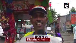 CWC: Rickshaw puller decorates his rickshaw to motivate team India