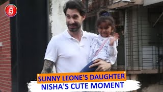 Sunny Leones Daughter Nisha's Cute Moment With The Shutterbugs