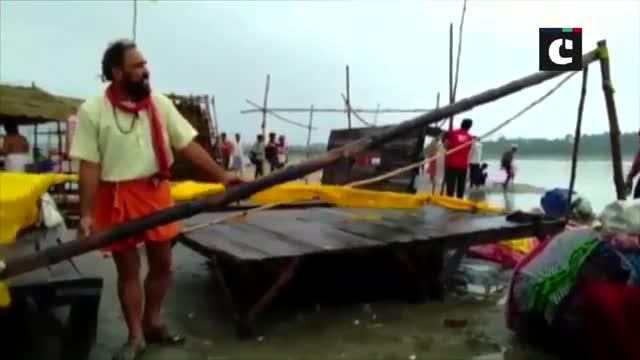 Prayagraj faces flood-like situation as heavy rainfall swells river Ganga