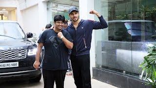 Siddharth Malhotra With Milap Zaveri Spotted At Sunny Super Sound For Dubbing Of Film Marjawan