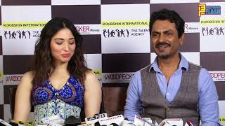 Nawazuddin Siddique & Tammannah Bhatia At Swaggy Chudiya Song Recording - Bole Chudiyan Movie