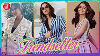 Love stripes Katrina Kaif Deepika Padukone and Shilpa Shetty teach you how to slay!