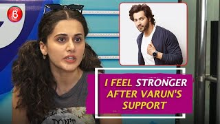 Taapsee Pannu mocks a controversial actress sister with Varun Dhawan's Tweet