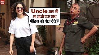 Sanya Malhotra spotted at K1 office in Andheri
