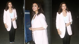 Jabariya Jodi Actress Parineeti Chopra Spotted At Mumbai Airport