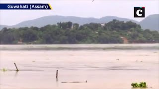 Assam floods: Brahmaputra River flows above danger mark, water enters residential area in Guwahati