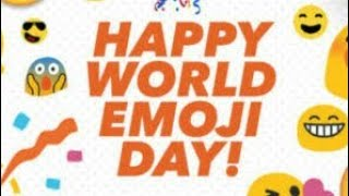 first time happy WORLD EMOJI DAY CELEBRATED INDIA facebook enjoy it