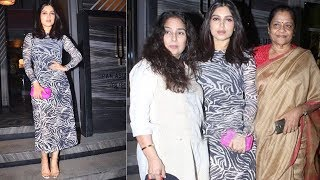 Saand Ki Aankh Actress Bhumi Pednekar Spotted With Family At Andheri