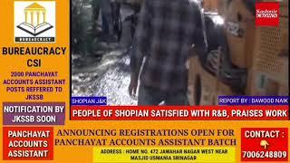 PEOPLE OF SHOPIAN SATISFIED WITH R&B, PRAISES WORK