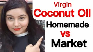 How To Make Coconut Oil At Home | Homemade vs Market Coconut Oil | JSuper Kaur