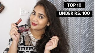 Top 10 Makeup Products Under Rs. 100  + $100 Giveaway | Affordable Makeup Under rs. 100