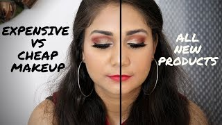 EXPENSIVE VS AFFORDABLE MAKEUP | EXPENSIVE VS CHEAP MAKEUP | NIDHI KATIYAR