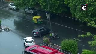 Watch: Parts of Delhi receive rainfall
