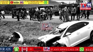 ROAD ACCIDENT CAR HIT BIKE 2 PERSONS DEAD AT VISAKAPATNAM ANDHRA PRADESH
