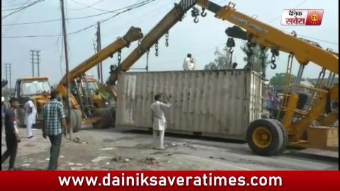 Video- Ludhiana में तेज रफ़्तार Truck पलटने से 1 की मौत, देखिए CCTV