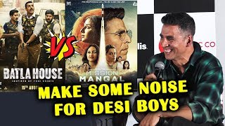 Akshay Kumar Reaction On Mission Mangal VS Batla House CLASH | Trailer Launch