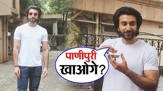 Malaal Actor Meezaan Jafferry Snapped At Sanjay Leela Bhansali's Office | Enjoying Gol Gappa