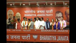 Some Eminent personalities #JoinBJP at BJP HQ in New Delhi. : 18.07.2019