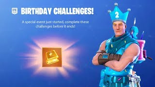 FORTNITE BIRTHDAY CHALLENGES - FORTNITE'S 2ND BIRTHDAY CELEBRATION AND BIRTHDAY CAKE LOCATIONS