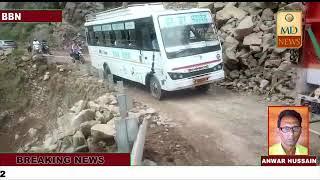 नालागढ़ रामशहर सड़क ल्हासे गिरने से हुई अवरुद्ध , यात्रियों को करना पड़ रहा घंटों इंतजार