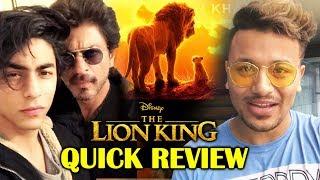 The Lion King QUICK REVIEW | Shahrukh Khan Aryan Khan