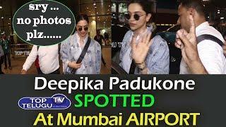 Stylish Deepika Padukone Back From LONDON Spotted At Mumbai AIRPORT | Top Telugu TV