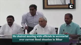 Bihar floods: CM Nitish Kumar chairs meeting with officials in Patna