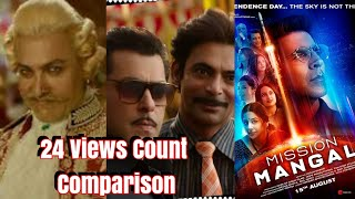 Mission Mangal Trailer Vs Bharat Vs Thugs Of Hindostan Trailer Views Comparison In 24 Hours