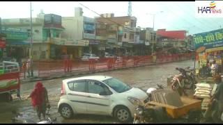 बरवाला में बरसाती पानी का भारी  जमाव प्रशासन की लापरवाही से आम जनता परेशान