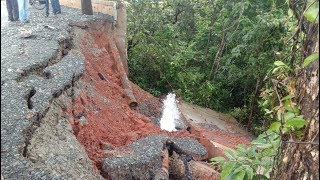 Retaining Wall Collapses At Kerye-Khandepar, Locals Suspect Poor Quality Construction