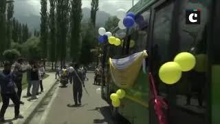Governor Satya Pal Malik flags off electric buses in Srinagar