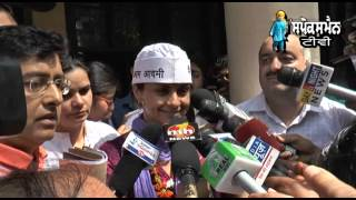 Gul Panag Aam Aadmi Party (AAP) On Friday Filed Their Nominations For The Chandigarh Lok Sabha Seat