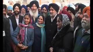 Sukhbir Singh Badal Pays Obeisance At GOLDEN TEMPLE , AMRITSAR