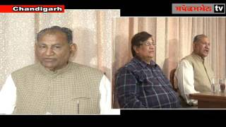 Former MLA Ram Kumar Gautam addressing a press conference at Chandigarh