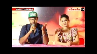 Sunny leone and Tanuj virwani  in chandigarh for the new movie -ONE NIGHT STAND ,