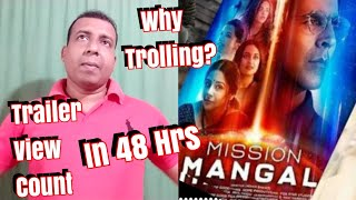 Mission Mangal Trailer View Count In 48 Hours And My View On Trolling?