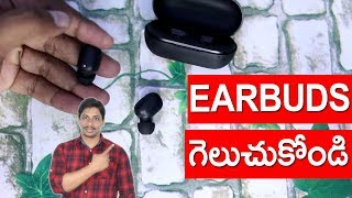 Xiaomi Haylou tws bluetooth earphones unboxing and giveaway telugu