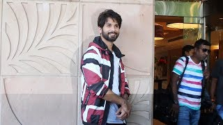 KABIR SINGH Shahid Kapoor Spotted At Novotel Juhu - Watch Video