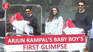 Proud Parents Arjun Rampal And Gabriella Demetriades Take Their Baby Boy Home