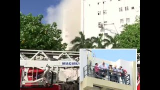 Massive fire breaks out at MTNL building in Mumbai's Bandra, no injuries reported