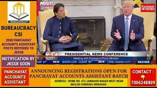 US President To Mediate Between Ind-Pak On Kashmir Issue.