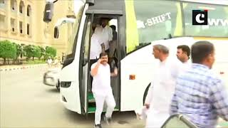 K'taka floor test: BS Yeddyurappa and other BJP MLAs arrive at Vidhana Soudha
