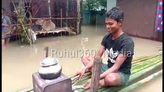 "Dhubri ""FOKIRGANJ"" flood Conditions 2019 ft. Assam flood relief"