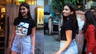 Amyra Dastur Spotted At Indigo Restaurant Bandra Watch Video