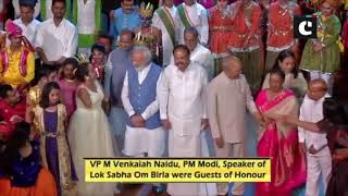 President Kovind, PM Modi attends cultural events performed by divyang children