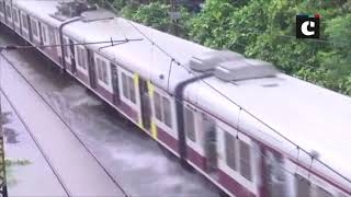 Heavy rainfall leads to waterlogging at Mumbai's Sion Railway Station