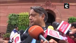 PM Modi must clarify Trump's Kashmir claims: Shashi Tharoor on Opposition walkout from LS